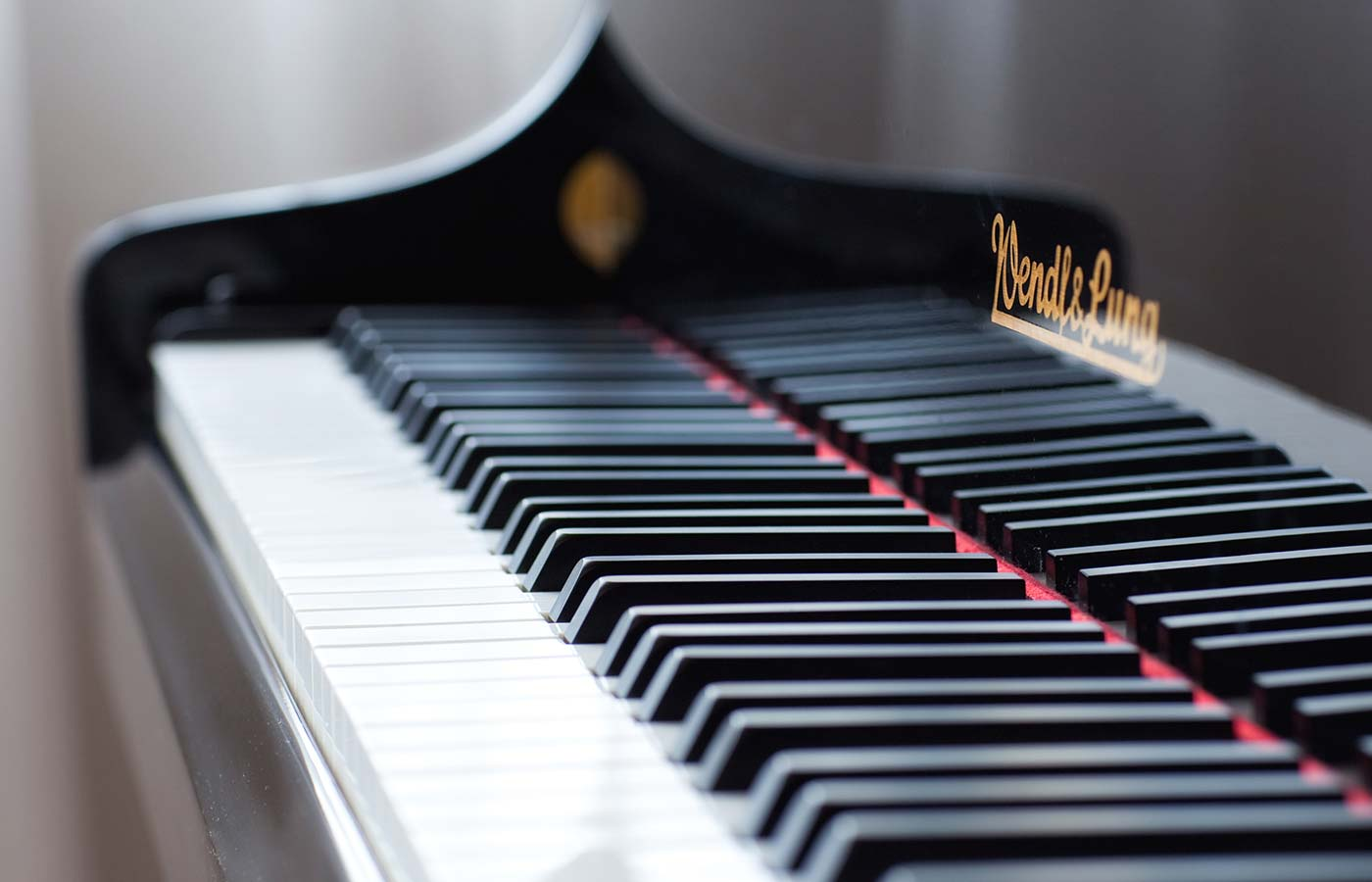 Detail of piano at Hotel Cavallino